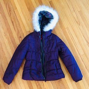 London Fog girls puffer jacket size7/8